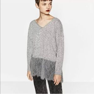 Zara W/B collection marled knit sweater (2FOR30)